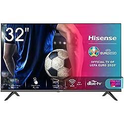 Hisense 32AE5500F Smart TV LED HD 32´´, Bezelless, USB Media Player, Tuner DVB-T2/S2 HEVC Main10 [Esclusiva Amazon - 2020]