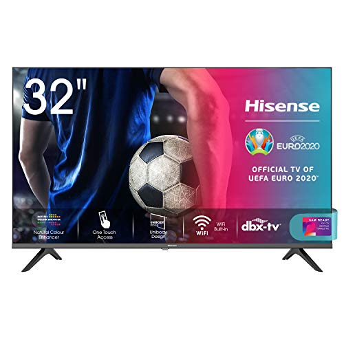 Hisense 32AE5500F Smart TV LED HD 32', Bezelless, USB Media Player, Tuner DVB-T2/S2 HEVC Main10 [Esclusiva Amazon - 2020]
