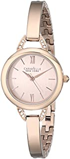 Caravelle New York Women's 44L133 Stainless Steel Swarovski Crystal-Accented Watch