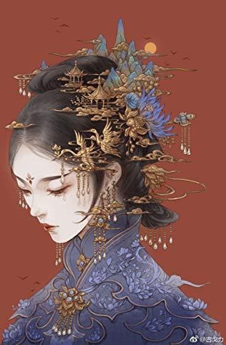 Libro de colorear chino línea de dibujo de dibujo de libro de texto chino, libro de dibujo de belleza antigua china, libro para colorear para adultos anti estrés