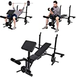 SAQIMA Multifunctional Home Gym Adjustable Weight Bench Professional Workout Bench Adjustable Sit Up AB Incline Abs Bench Flat Fly Press Fitness Rope,Weight Press Fitness