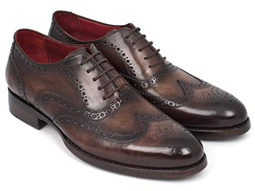 Paul Parkman ID#027-BRW Wingtip Oxfords Goodyear Welted Brown, Braun - braun - Größe: 42.5 EU