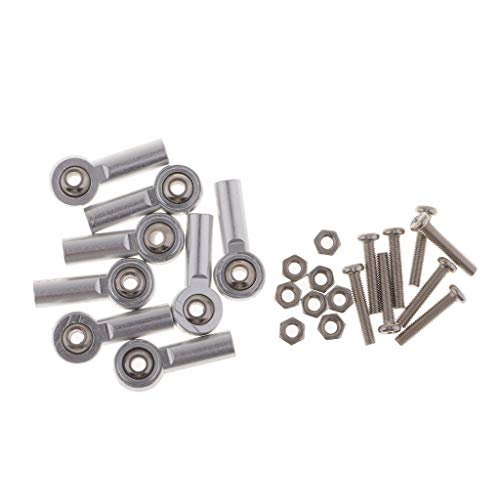 B Blesiya 8stk. Metall Kugelkopf Kugelgelenk Kugelköpfe M3 mit Schrauben für RC Auto - 4mm Silber