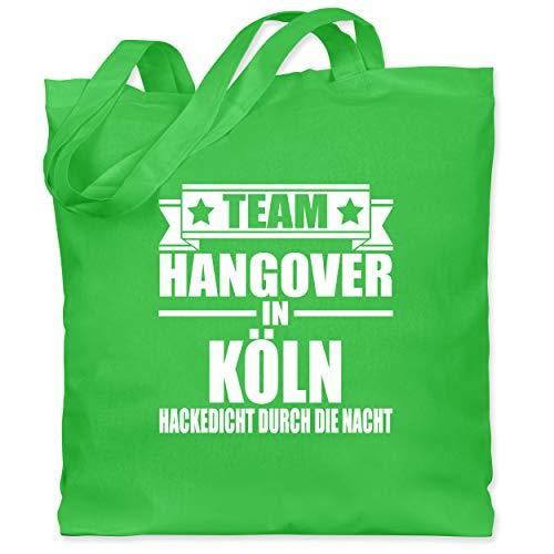 Shirtracer JGA Junggesellenabschied Männer - Team Hangover in Köln - Unisize - Hellgrün -...