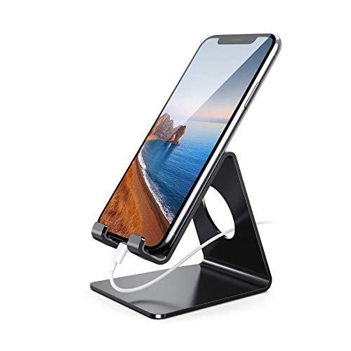 guoda Soporte para Movil-Portamoviles Coche Soporte para Teléfono Móvil, Base para Teléfono Inteligente, Adecuado para Teléfono Móvil 12 Mini 11 Pro XS MAX XR X 8 7 6, Negro