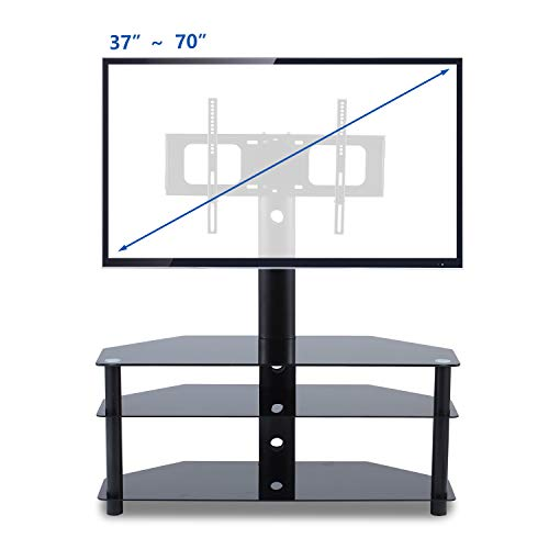 TAVR TV Stand with Swivel Mount 3-in-1 Flat Panel Stand for Most 37-70 inch Plasma LCD LED Flat/Curved Screen TVs,VESA Patterns up to 600mmx 400mm