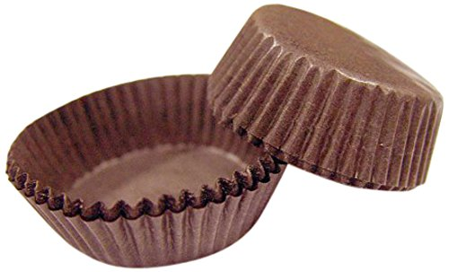 Cybrtrayd No.5 Paper Candy Cups, Brown, Box of 19000