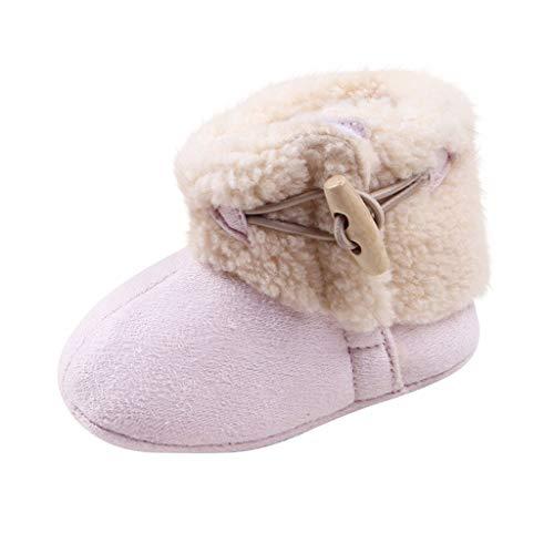 DWQuee ❤️ Baby Baumwolle Schneeschuh, Winter Säugling Neugeborene Mädchen Jungen Weiche Sohle Stiefel Outdoor Schuhe Warme Stiefeletten (6-15 Monate)