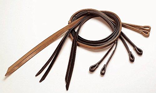 Reitsport Amesbichler Westernzügel Eco aus Leder, 175 cm lang, Dunkelbraun Westernzügel Eco aus Leder, 175 cm lang, mit Chicago Screws