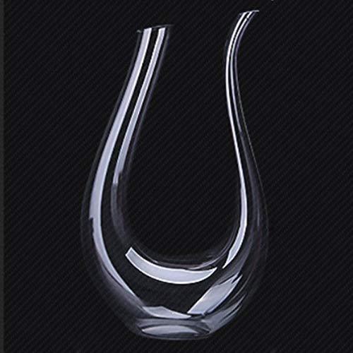 bansd Cristal Transparente Cuerno en Forma de U Decantador de Vino Recipiente para Verter Vino Tinto Nivel Transparente 2
