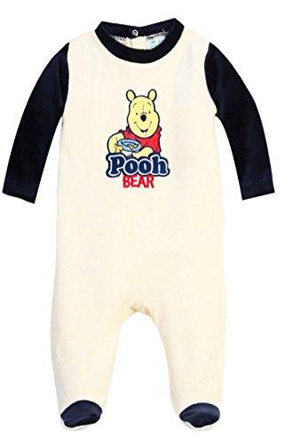 Pyjama bébé garçon Winnie l'ourson 'Pooh bear' Bleu et Beige de 3 à 23mois (23 mois, Beige/marine)