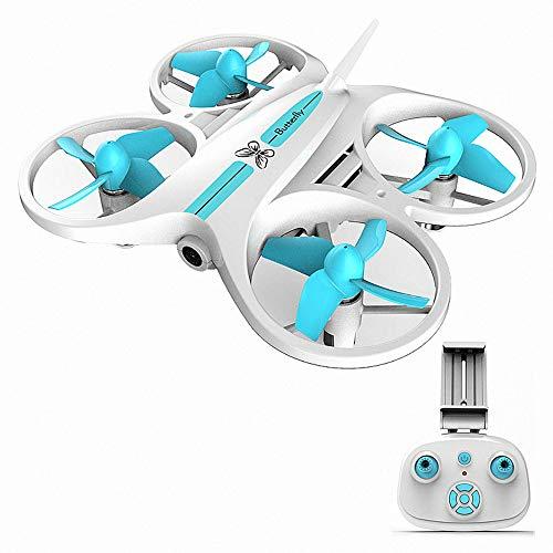 LILY 720P Mini Drone, WiFi Altura Fija con Control Remoto Quadcopter Carga Imagen Retorno Gota Resistente Drone Control Remoto,Blanco