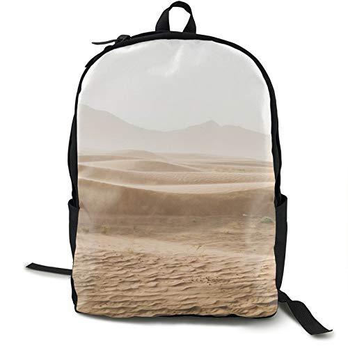 Lightweight Backpack Rucksack Foldable Ultralight Packable Backpack,Desert Sand Sand Dunes Sahara Gobi Unisex Durable Handy Daypack for Travel & Outdoor Sports