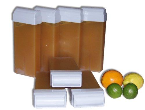 Storepil - 7 recharges 100 ml de cire à épiler - AGRUMEStexture MIEL pour épilation