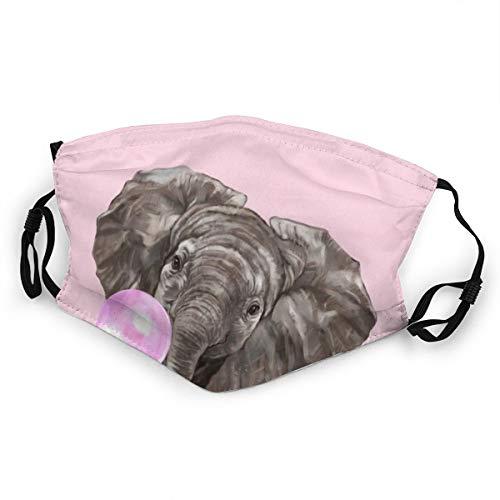 Kinder-Mundschutz Baby Elefant bläst Kaugummi waschbar Anti-Staub-Gesichtsabdeckung