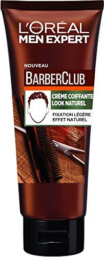 L Oréal Men Expert - BarberClub - Crème Coiffante Look Naturel - Fixation Légère & Effet Naturel - 100 ml