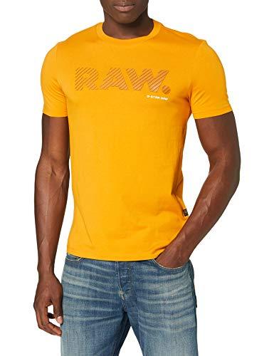 G-STAR RAW Mens 3D RAW. Logo Slim T-Shirt, dk Gold 336-5618, XXL