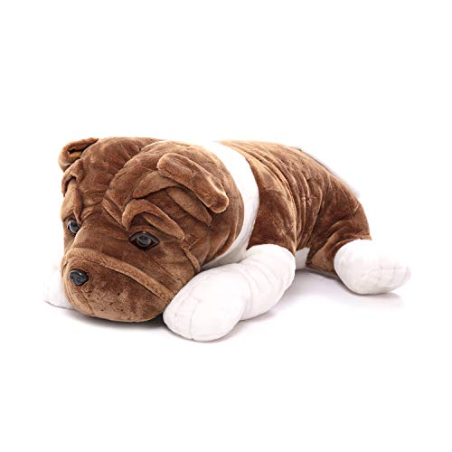 Plushland Realistic Stuffed Animal Toys Puppy Dog, Holiday Plush Figures for Kids, Babies to Play with (10')