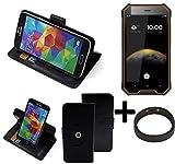 K-S-Trade® Case Schutz Hülle Für Blackview BV4000 Pro + Bumper Handyhülle Flipcase Smartphone Cover Handy Schutz Tasche Walletcase Schwarz (1x)