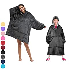 OVERSIZED HOODIE for HOME&OUTDOORS - This hoodie with long sleeves covers you completely well and allows you to move and use your hands freely. It keeps you warm and cozy while lounging at home, morning coffee outside, at a sporting event, you can we...