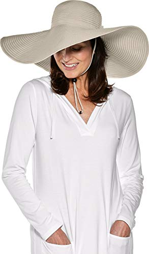 Coolibar UPF 50+ Women's Compact in A SNAP! Shelby Shapeable Poolside Hat - Sun Protective (One Size- Tan w/Snap)