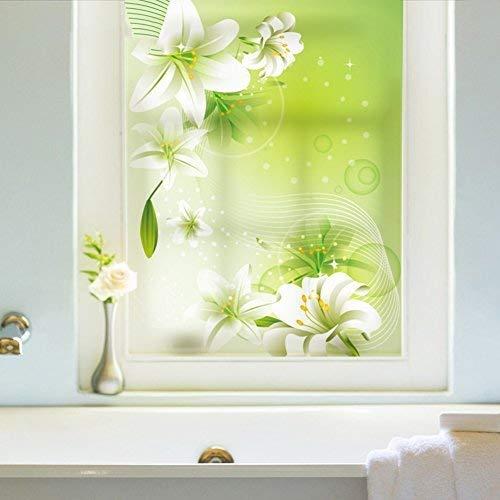 Crystallly Window Film Window Sticker Balkon Vensterbank Slaapkamer Licht Ondoorzichtig Eenvoudige Stijl Badkamer Woonkamer Toilet Een 45X60Cm (18X24Inch)