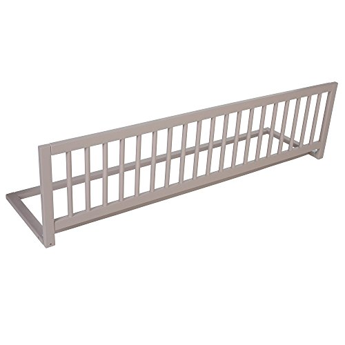 Safetots Extra Breed Houten Bed Rail, Grijs