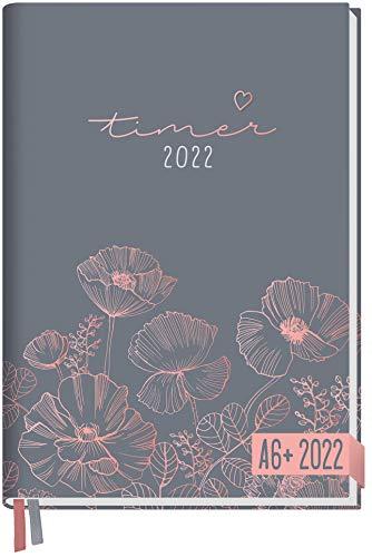 Chäff-Timer Mini Kalender 2022 A6+ [Poppy] mit 1 Woche auf 2 Seiten | Terminplaner, Wochenkalender, Organizer, Terminkalender mit Wochenplaner | nachhaltig & klimaneutral