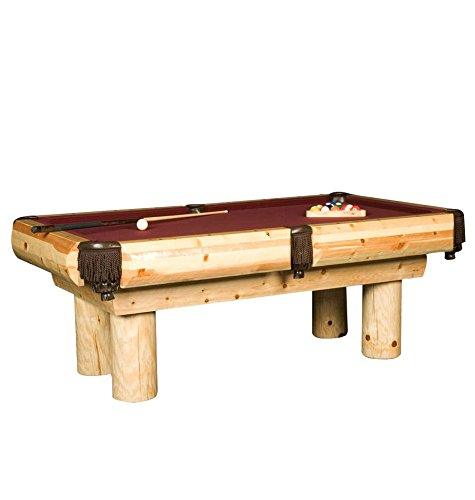 Best Deals! Ponderosa Pine Log Pool Table