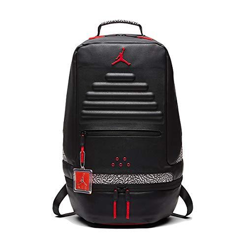 [ナイキ]ジョーダン バックパック NIKE JORDAN RETRO 3 BACK PACK black/gym red AJ3 リュック カバン バッグ PCスリーブ ONESIZE [並行輸入品]