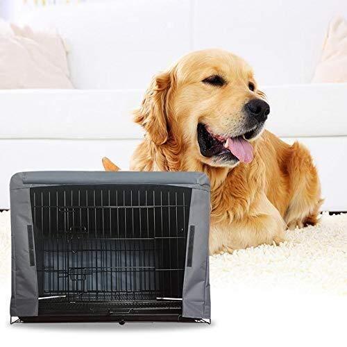 Sebasty Pet Supplies Houses Cottage Cage Covered by Cloth Aislamiento Térmico Repelente De Mosquitos Escudo Impermeable Y Protector Solar for Perros (Color : Black)