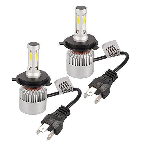 Bombillas LED para faros H4 para lámpara COB para automóvil 6500K 8000LM 72W Luz antiniebla para luz blanca fría 2 PC (H4S)