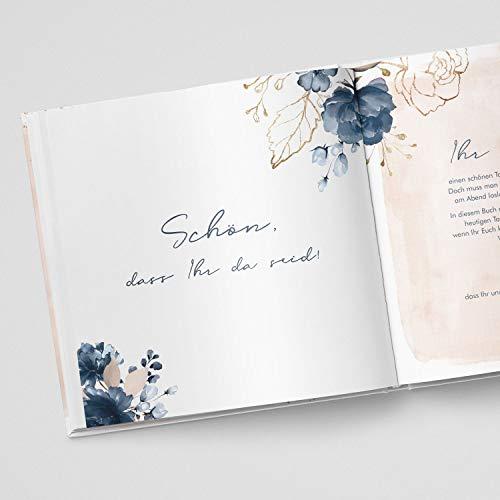 Gästebuch mit Fragen |Watercolor Breeze, rosé - 3