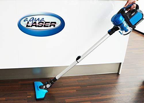 Aqua Laser Freedom Stielstaubsauger | Staubsauger Kabellos | Akku-Handstaubsauger 18,5V | beutellos mit Lithium-Ionen-Akku
