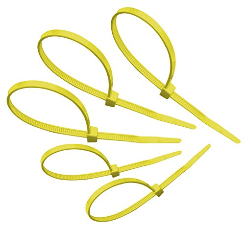 Tach-It 8' x 40 Lb Tensile Strength Yellow Colored Cable Tie (Pack of 1000)