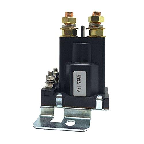 KKmoon Contactor de relé de arranque automático SPST de 4 pines para corriente pesada con aislador de baterías dobles, control de apagado para el sistema de baterías múltiples para montacargas