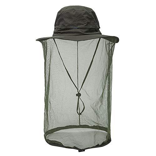 XFSD Herren Sun Blocker Protection Angelhut Eimer für Frauen, Sun Hat abnehmbares Moskito-Kopfnetz, mit breiter Krempe an der Halsklappe, einstellbar für den UV-Schutz im Freien.