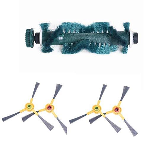 SANKUAI 1set Brush & Sidebrass Sidebras para-Ecovacs para DEEBOT 710 720 730 760 D73 D76 D77 Robótico (Color : Green Black)