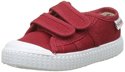 Victoria Basket Lona Dos Velcros, Zapatillas Unisex Niños, Rojo (Carmin), 21 EU