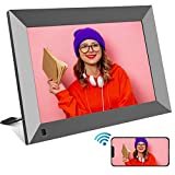 Digital Picture Frame WiFi YENOCK 10 INCH YENOCK Share Photo & Video Instantly via App/Facebook/Twitter/E-Mail Anywhere Touch Screen Display,Auto-Rotate,Motion Sensor,16GB Storage