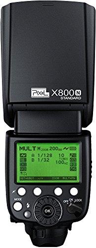 PIXEL X-800N/STANDARD - Flash (Flash de videocámara, Negro, 7 - 90°, 180 - 180°, 20 - 200 mm, Batería)
