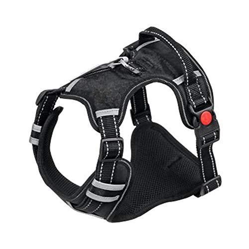 LCPET Hundeautogeschirr Reflektierendes Haustierwestengeschirr mit verstellbarem Sicherheitsgurt Elastischer Gurt Atmungsaktive Stoffweste im Fahrzeug für Hunde,XL