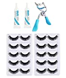 Miss Hot 10 Pair False Eyelash, 2 Eyelash Glue + 1 Eyelash Curler(Eye Combo)