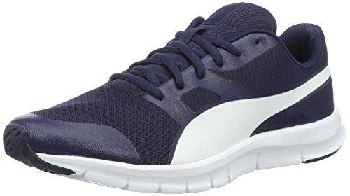 Puma Flexracer Scarpe da ginnastica, Basse, Unisex – Adulto, Blu (Peacoat-Puma White 23), 47
