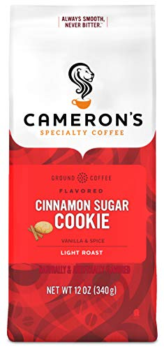 Cameron's Coffee Roasted Ground Coffee Bag, Flavored, Cinnamon Sugar Cookie, 12 Ounce