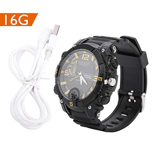 Reloj de Cámara Inteligente Moda Reloj Impermeable para Ejercicios Reloj Deportivo Multifuncional Reloj 720P Cámara Eléctrica Reloj WiFi USB Reloj de Pulsera Recargable para Hombres y Mujeres(16G)