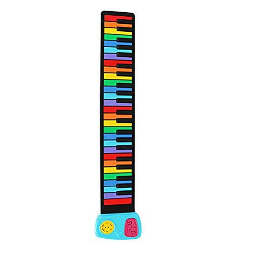 NINI Rollo de Piano de la Mano de Entrada de Teclado estándar diversión de Piano de Silicona versión Arco Iris de 49 niños Clave