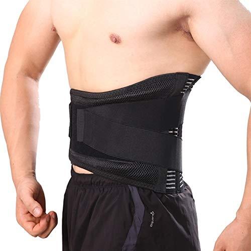 ZWQASP Unisex Lumbar ortopédica corsé Hernia de Disco Brace Fajas Inferior de la Espalda Apoyo de la Ayuda En la Columna Lumbar Volver cinturón de Venta Directa (Color : Black, Size : XXXL)