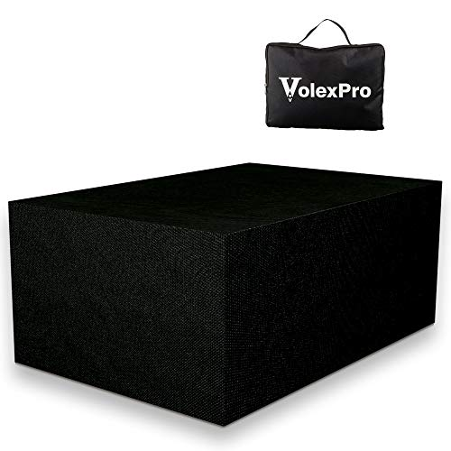 VolexPro Garden Furniture Covers, Outdoor Patio Furniture Covers Waterproof in STRONG 600D Heavy Duty Oxford Fabric 200 x 160 x 70cm Snow, Dust, Wind Proof, Anti-UV