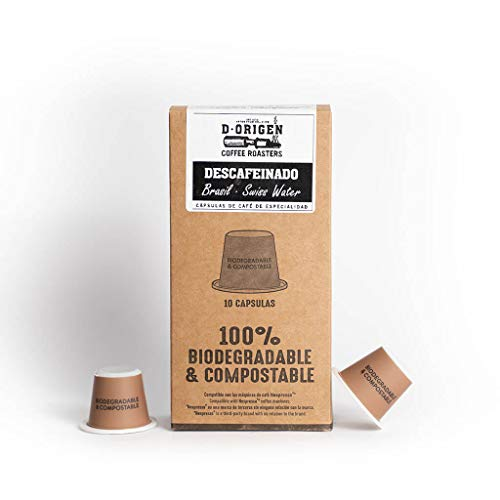 Cápsulas de café Descafeinado Brasil (10 uds.) - Compatible con Nespresso -...